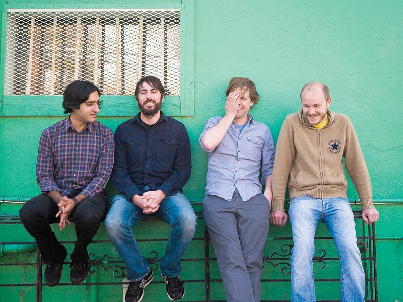 Chris Hrasky (second from right) and Explosions in the Sky