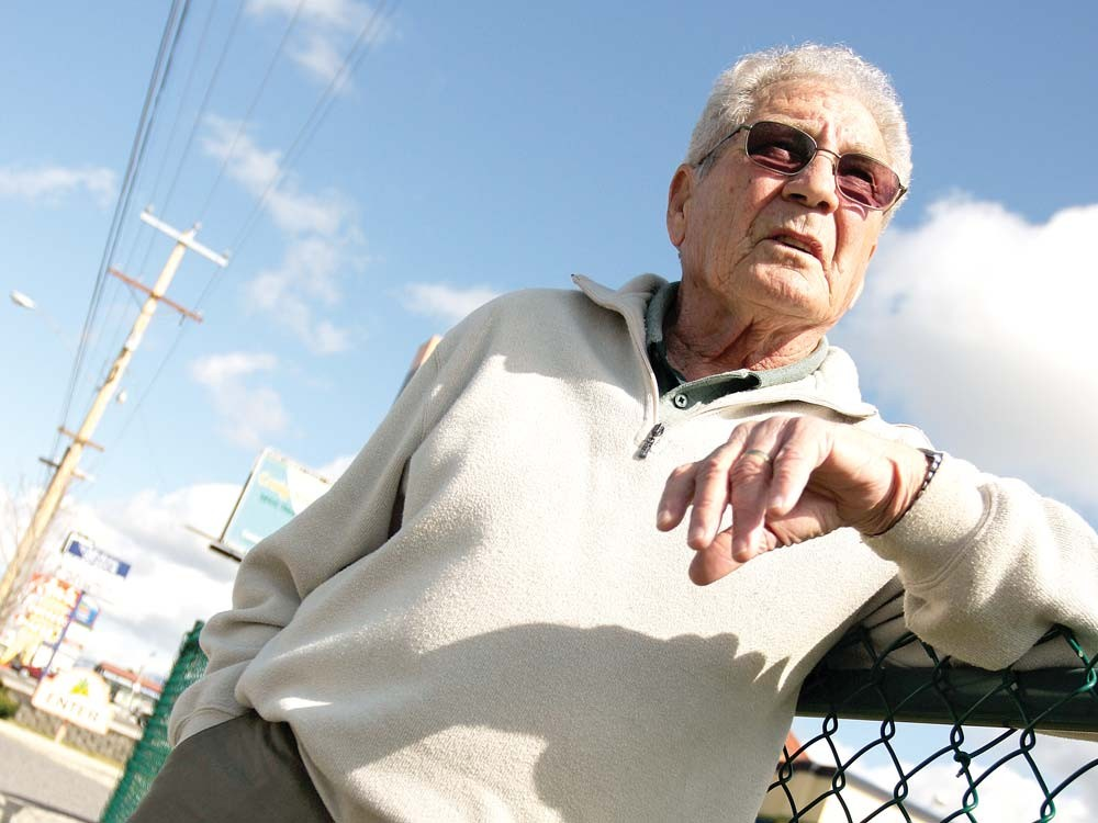 Chuck Hafner standing on East Sprague. - YOUNG KWAK