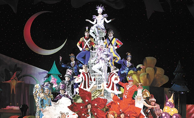 Cirque Dreams Holidaze arrives at the INB this weekend.