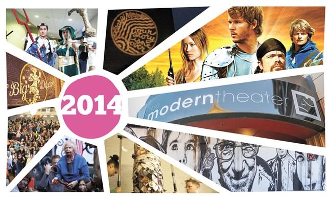 Clockwise from top left: KuroNekoCon, Create Spokane, Knights of Badassdom, Modern Theater, Spokane Mural Project, Terrain, Z Nation, Spokane Arts Awards, The Big Dipper.
