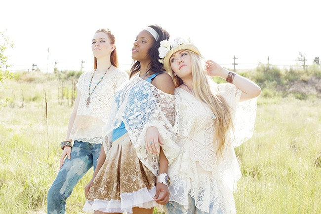 Clothing and accessories (cuffs, necklaces and hats) by Lynne Blackwood. Models from left: Sarah Buchanan, Brynne Gadbury, Gigi Spott. - YOUNG KWAK