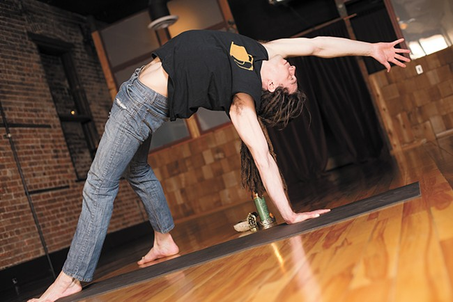 """Co-owner Lee Bear Tobin demonstrates a """"Wild Thing"""" at Lila. - YOUNG KWAK"""