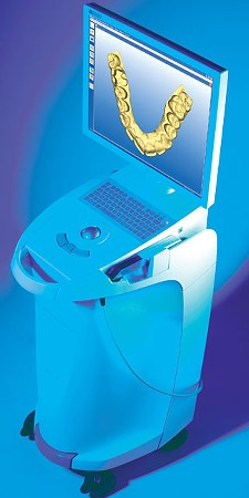 Computers like this one are helping dentists produce inlays, onlays and crowns on-site, so they can be applied in a single visit.