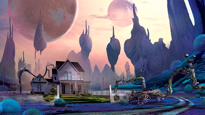 Concept art for Cyan's proposed new game, Obduction - CYAN