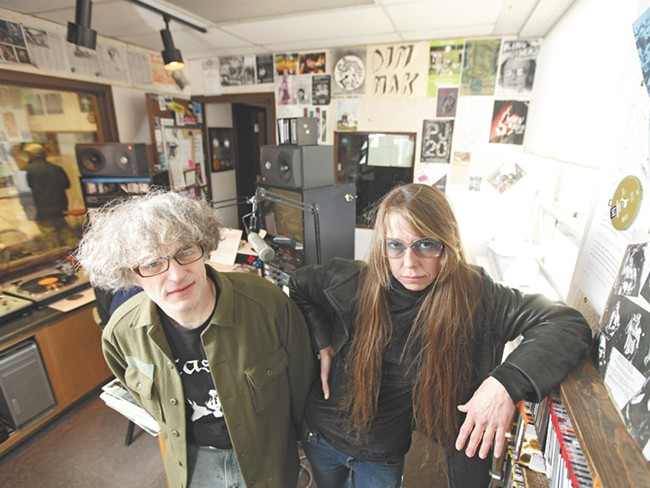 Confinement Loaf DJs Ted Kelchner, left, and Andria Marcussen - YOUNG KWAK