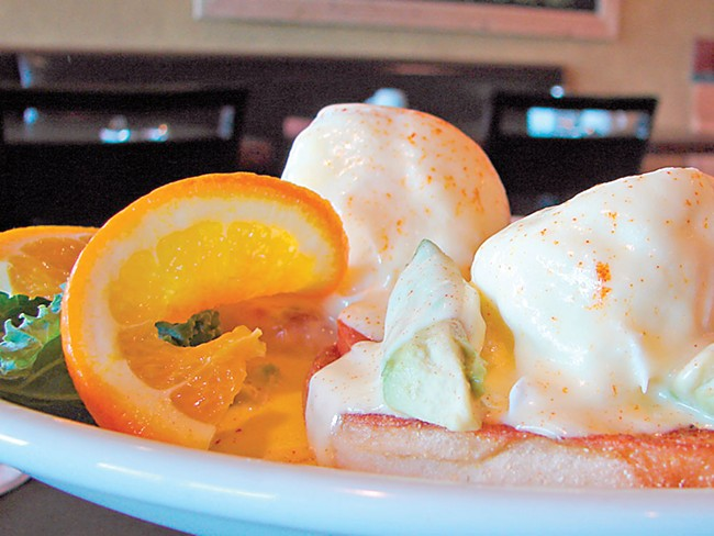 Consider the View Cafe's eggs Benedict. - CARRIE SCOZZARO