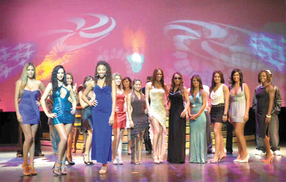 Contestants for the BlueStar International Fitness and Beauty Pageant, held in the Bahamas.