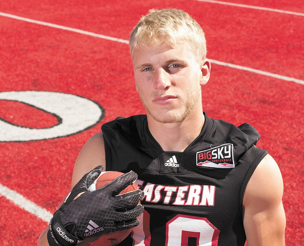 Cooper Kupp didn't receive big scholarship offers, but is more than happy to be scoring touchdowns for EWU. - YOUNG KWAK