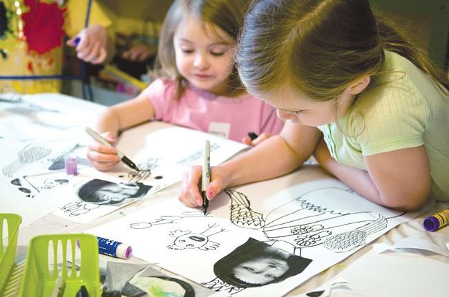 Creative kids at Tinman Too. - AMY HUNTER