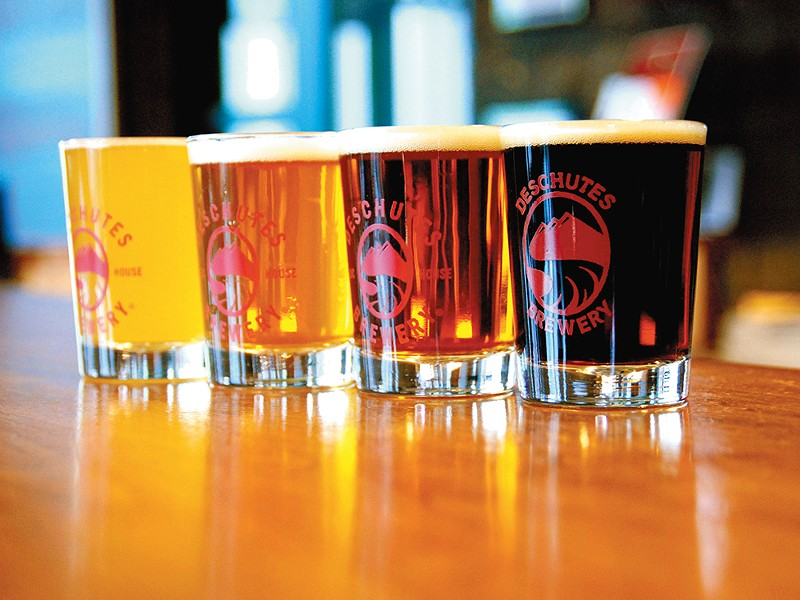 Deschutes Brewery is the largest brewery in Bend and the backbone of the city\'s bustling brewing industry.