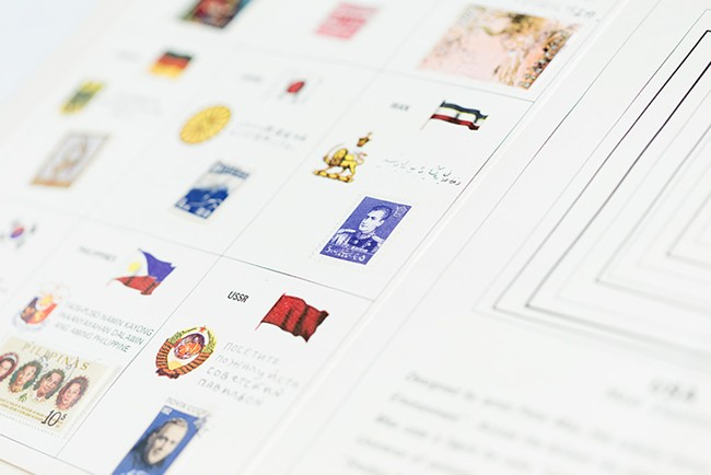 Detail of the stamps for each nation. - YOUNG KWAK