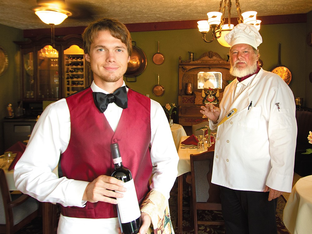 Donny Hart of Donny\'s Place, left, and his father and chef Daniel Hart. - JOE KONEK
