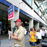 Downtown protesters decry Chase banking profits