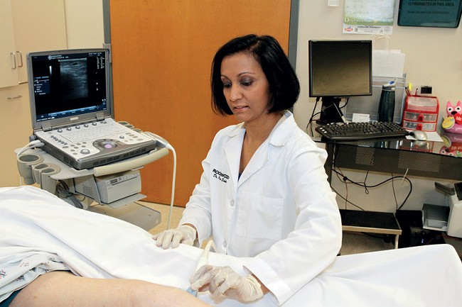 "Dr. Renu Sinha: ""Ultrasound has really revolutionized how we treat veins."" - ERIC TRA"