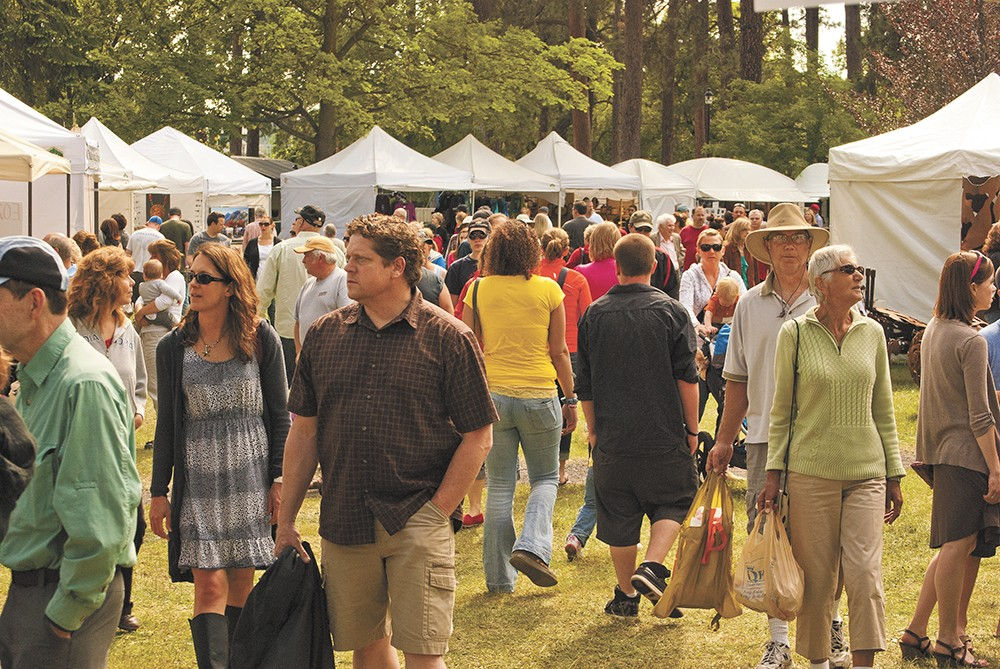 Each year, Coeur d'Alene Park in Spokane's Browne's Addition neighborhood fills with ArtFest patrons.
