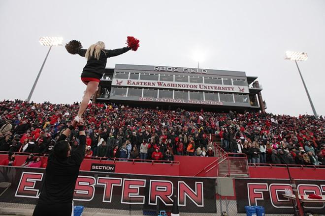 Eastern Washington cheerleaders perform during the first half. - YOUNG KWAK