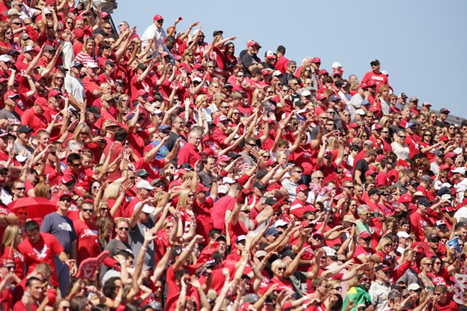 Eastern Washington fans cheer during the first half. - YOUNG KWAK