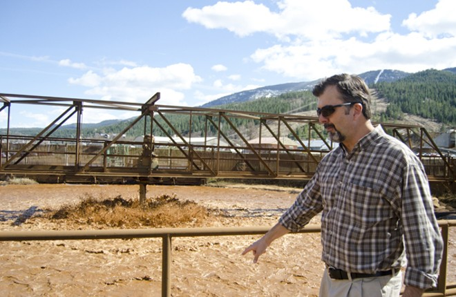 Ed Moreen, project manager with EPA, at Kellogg water treatment plant. - JACOB JONES