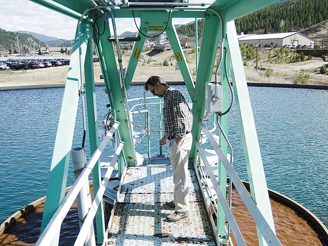Ed Moreen, project manager with the Environmental Protection Agency, surveys the agency\'s water treatment plant in Kellogg, Idaho. - JACOB JONES