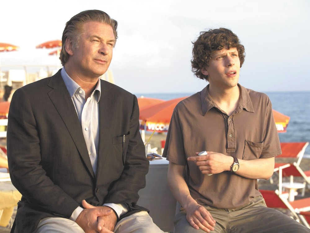 Eisenberg picks up some tips from Baldwin in To Rome With Love.
