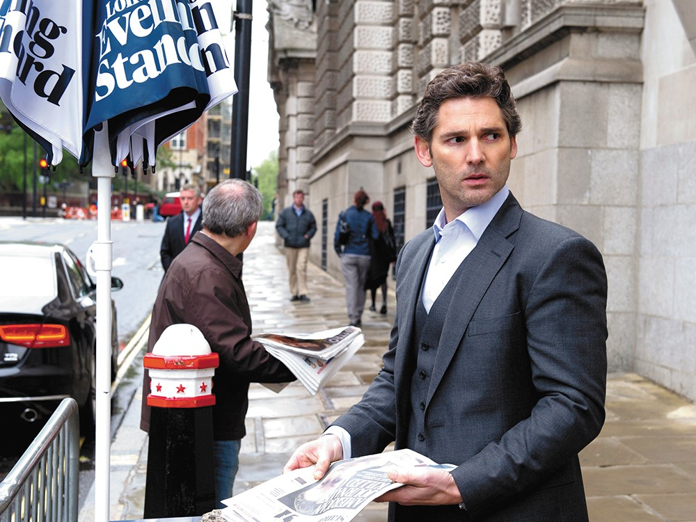 Eric Bana stars as a freaked-out lawyer in Closed Circuit.
