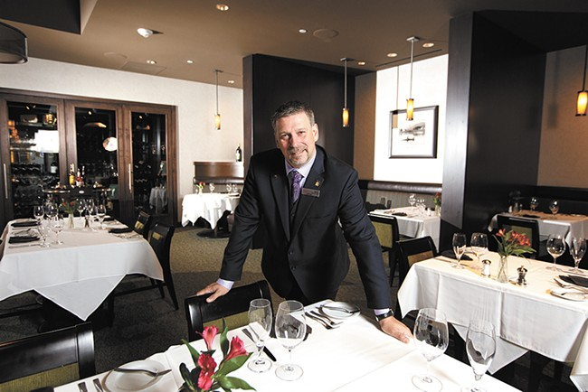Eric Cook, the manager of Northern Quest Resort & Casino's restaurant Masselow's, compares fine dining to performance art. - YOUNG KWAK