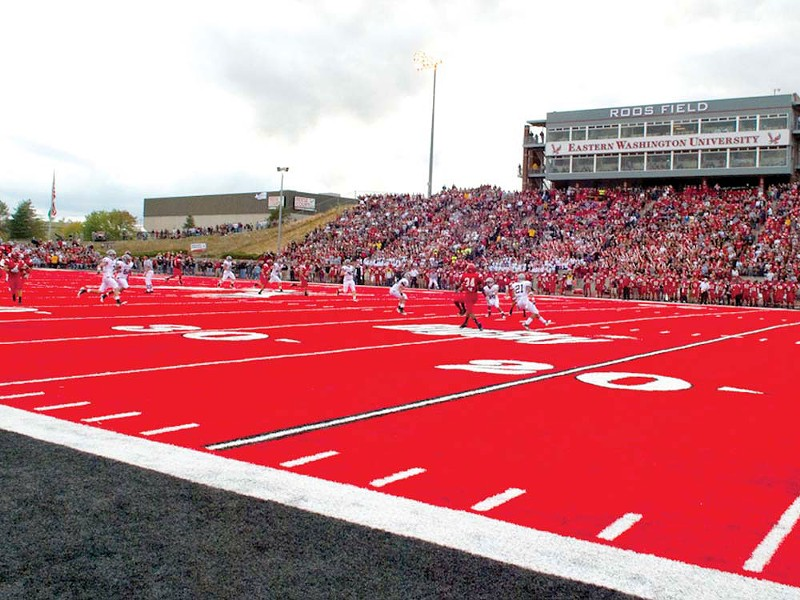 EWU rolls out the red turf