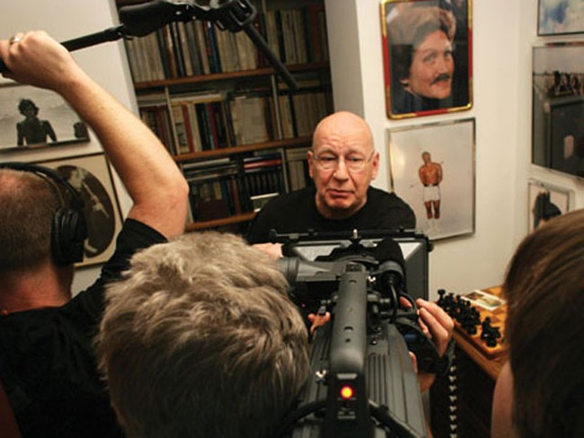 Famed Esquire cover designer George Lois is interviewed for the documentary