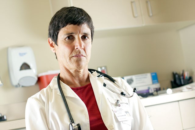 Family practice doctor Lauri Costello left her practice due to the emotional stress of a lawsuit.