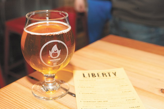 Find Liberty Ciderworks' tasting room on Washington Street. - MEGHAN KIRK
