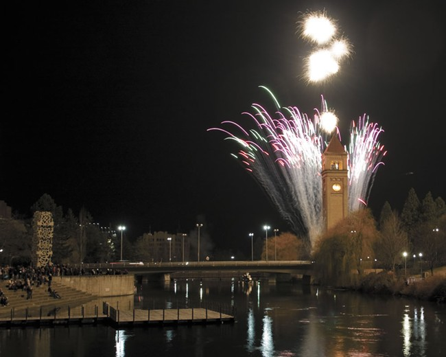 Fireworks are set to cap off a festive New Year's Eve in downtown Spokane. - JEFF FERGUSON