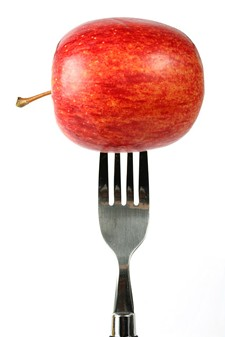 bigstockphoto_apple_diet_-_fork_148676.jpg