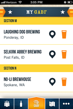 You can see what all the breweries are pouring with the GABF app.