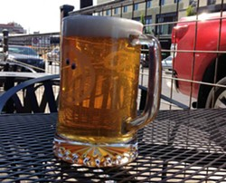 First official patio beer at Jones Radiator.
