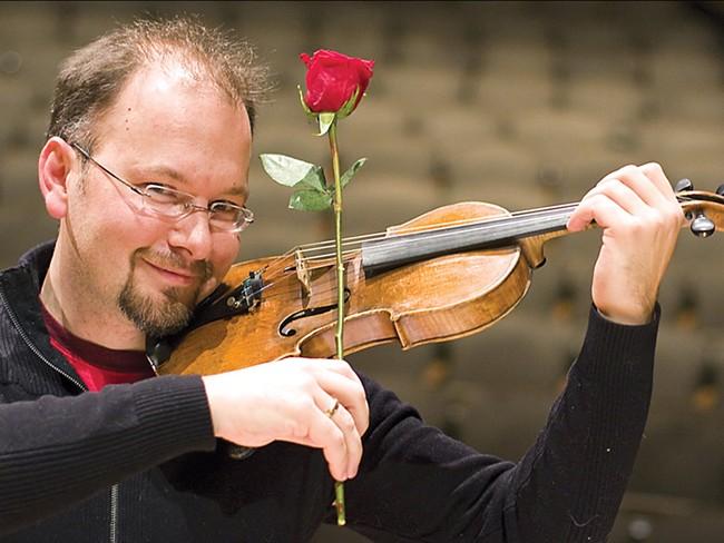 For Valentine\'s Day, Mateusz Wolski is offering a romantic seranade - JEFF FERGUSON