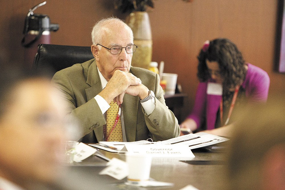 Former Gov. Dan Evans heads up a task force to reform UW's medical school program. - YOUNG KWAK