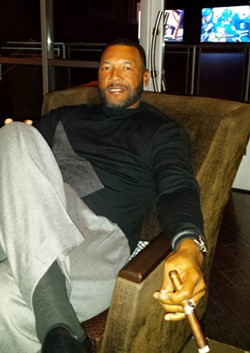 Former Major League ballplayer Gary Sheffield, chilling at Legends of Fire. - DAN NAILEN