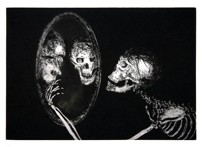 Frank Boyden - Uncle Skulky Beckons the Artist from his Mirror of Illusions
