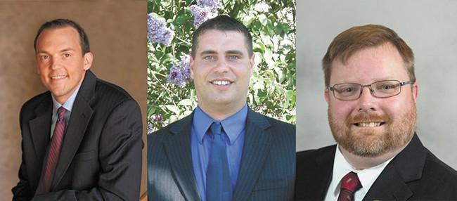 From left: Marcus Riccelli; Tim Benn; Randy McGlenn