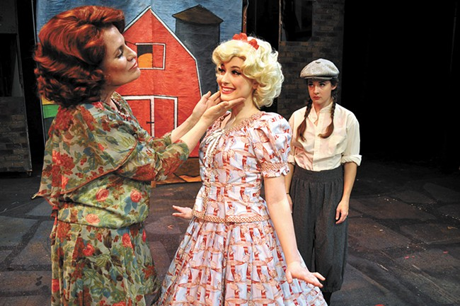 From left: Marianne McLaughlin, playing Rose; Brie Cole, playing June; and Aubrey Shimek Davis as Louise. - SARAH WURTZ