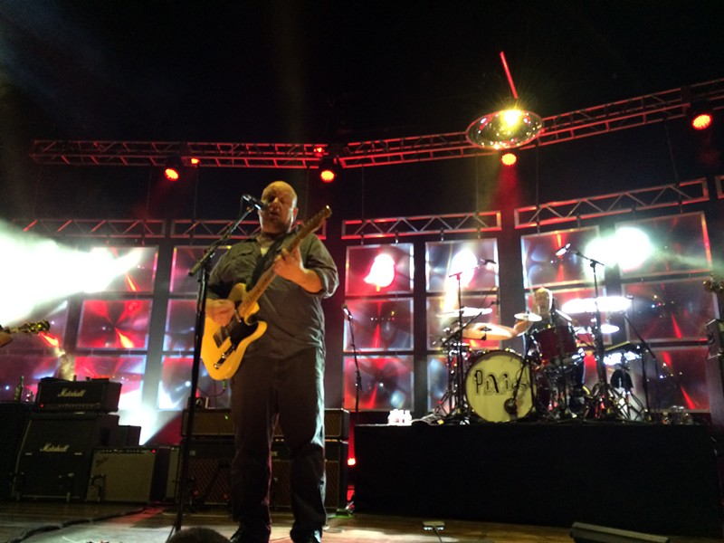 Frontman Black Francis and drummer David Lovering rock the INB Performing Arts Center Friday. - LAURA JOHNSON