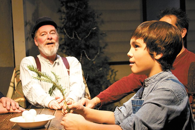 Gary Pierce (left) and Jordan Santiago (right) in The Christmas Schooner. - SAMUEL SARGEANT