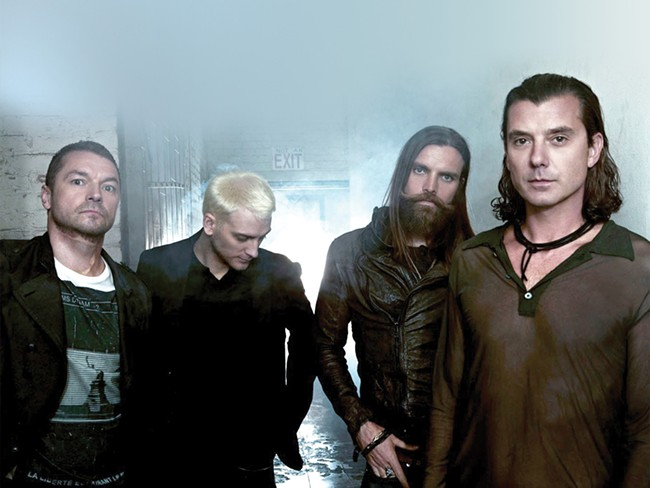 Gavin Rossdale (right) and his most recent incarnation of Bush.