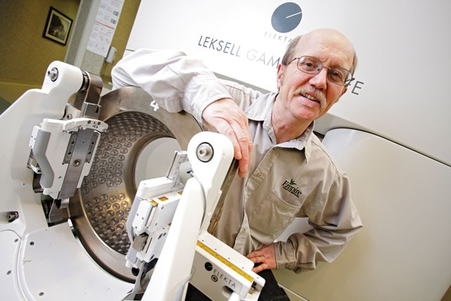 """George Thompson on his gamma knife treatment: """"It's a little bit of grace, a little bit of luck and a whole lot of science in there."""" - YOUNG KWAK"""