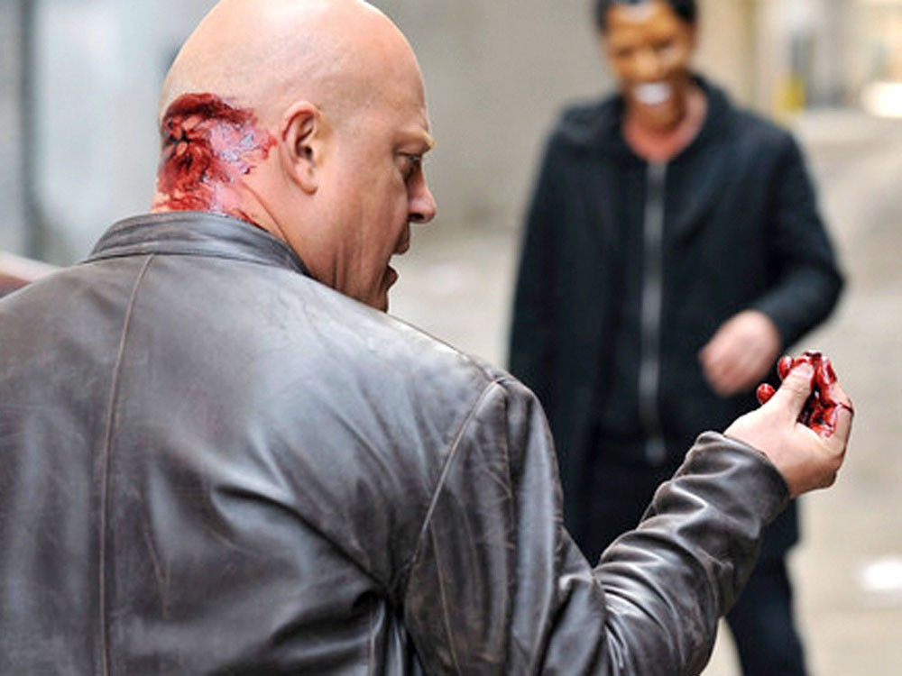 Getting shot in the back of the head, and other pet peeves of Michael Chiklis