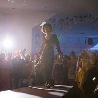 PHOTOS: Olive + Boone Custom Millinery Show Ginger Ewing walks the runway. Young Kwak