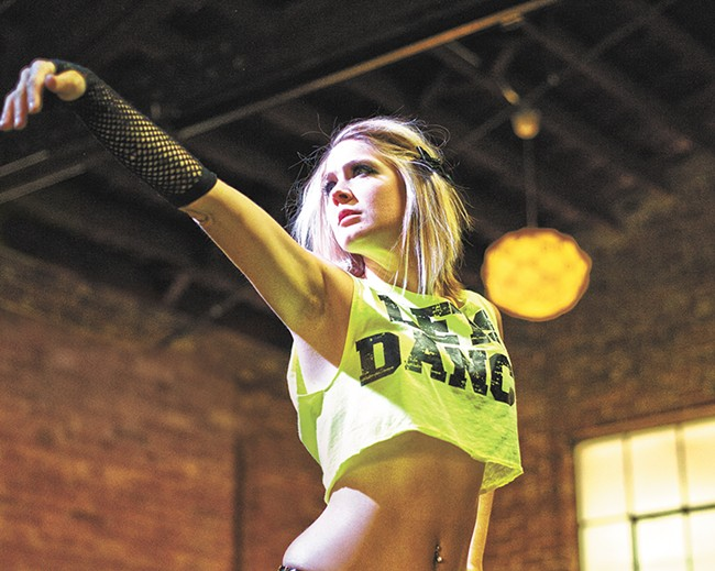 Go-go dancer Whitney Jones is one - of 16 performers hitting the stage - at Burleskival. - YOUNG KWAK