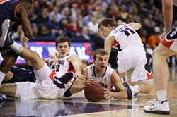 Gonzaga men's basketball takes on Pepperdine on Feb. 7. Photo by Young Kwak. - YOUNG KWAK