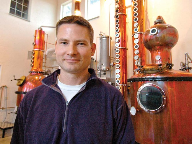 Greg Koenig isn't at all neutral: He believes potatoes make the best vodka. - GUY HAND