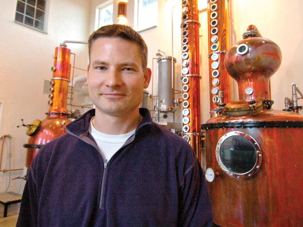 Greg Koenig isn't at all neutral: He believes potatoes make the best vodka. - GUY HAND